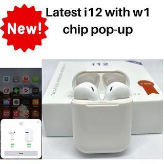 🚚 Updated i12 TWS Airpods Wireless bluetooth earbuds