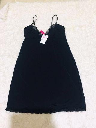 🚚 全新Cotton on 黑色素面洋裝睡衣 洋裝 襯衣 打底衣 GU 無印 UNIQLO