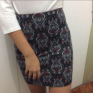 Pencil skirt bohemian
