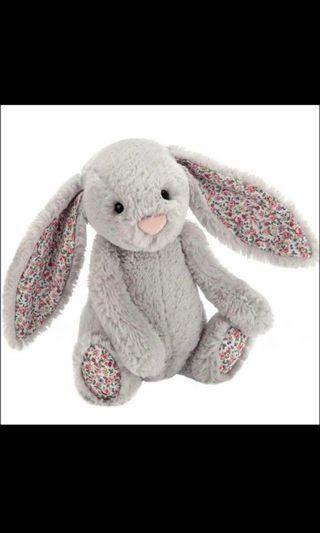🚚 Jellybunny Medium Grey Floral Bunny