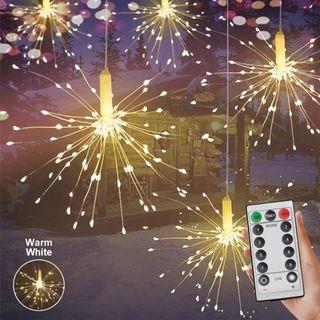 LD1725 150 LED懸掛童話閃爍字符串燈煙花銅線燈8模式功能萬聖節聖誕節派對暖白