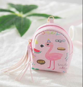 Mini Flamingo Coin/wallet Backpack pouch