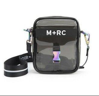 """M+RC NOIR """"GHOST"""" PVC BLACK TRANSPARENT PVC BAG"""