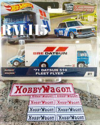 Hot wheels Team Transport 71 Datsun 510 Fleet Flyer