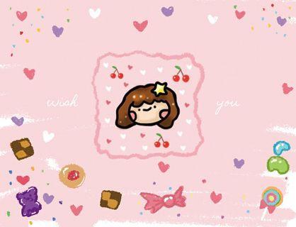 🍬可愛糖糖手繪明信片卡片🍭