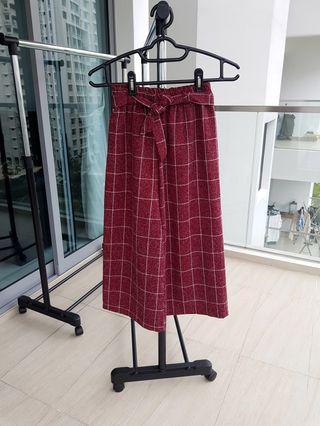 Korean Grid Culottes