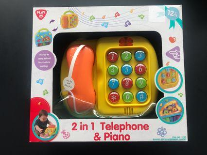 🚚 Playgo 2-in-1 Telephone & Piano