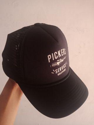 Pickers store trucker hat cap black