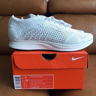 """♨️ Nike Flyknit Racer """"White-Out"""""""