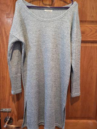 Blue knitwear dress
