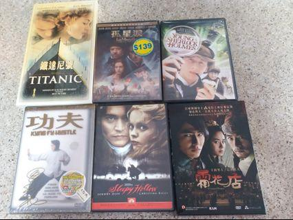 (DVD /VCD 電影) 6 套……合共$50