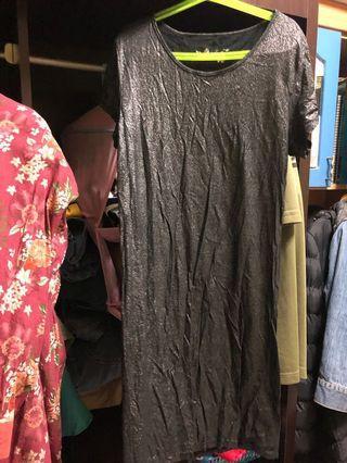 Metallic Black Bodycon Dress