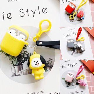 BT21 BTS KPOP Keychain/Key Ring with AirPod Case