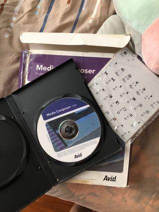 Avid Media Composer DVD installer with Box