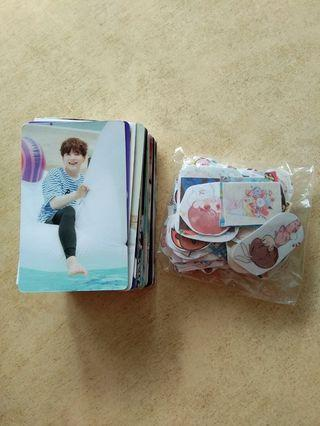 bts clearance (100 lomos + 100 stickers)