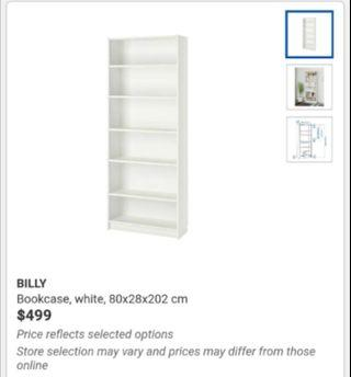 Bookcase Billy pick up 15th 6-8pm