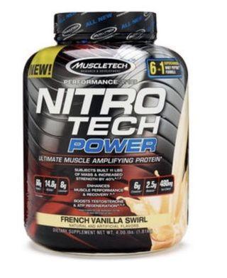 Muscletech power 香草 高蛋白4磅