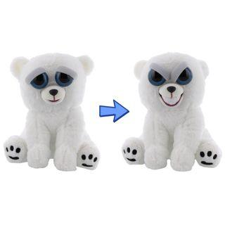 BRAND NEW Authentic Feisty Pets Evil Grin Animals Polar Bear Karl The Snarl Stuffed Soft Toy Angry Cute Face