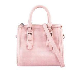 ZALORA Small Stripe Quilted Texture Top Handle Handbag