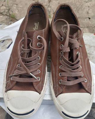Converse Jack Purcell Lather Brown White Sz 41