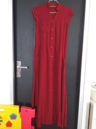 Hardware maroon dress