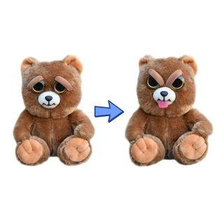 BRAND NEW Authentic Feisty Pets Animals Stick Out Tongue Bear Sir Growls A Lot Stuffed Soft Toy Angry Cute Face
