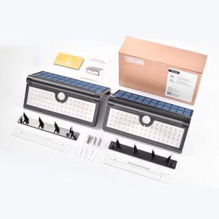 SU821 可折疊戶外58 LED IP65防水太陽能燈(2個裝)