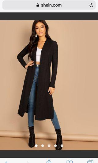 WTB A LONG CARDIGAN WITH SPLITS