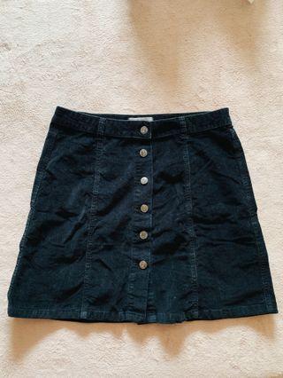 🚚 Black Corduroy Mini Skirt