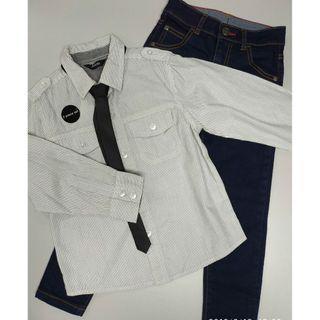 George 657837男童恤衫配領帶及牛仔褲