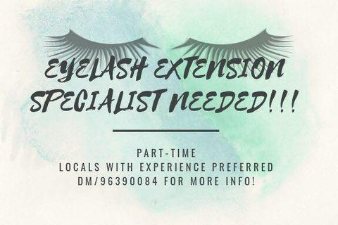 Hiring Eyelash extension specialist
