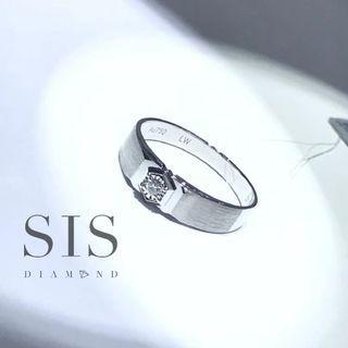SIS Diamond 男戒 鑽石 父親節禮物 對戒 18K