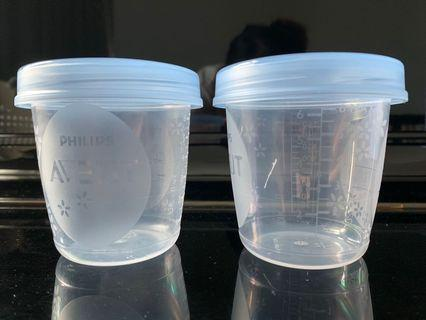 Philips Avent Storage Cups (2 pcs)