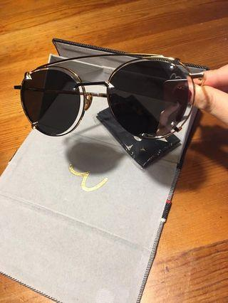 Evisu 圓框豹紋 太陽眼鏡 Sunglasses