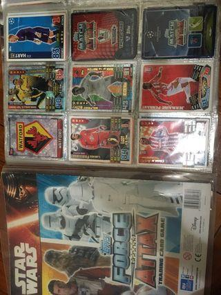 Star wars and soccer cards (check desc)