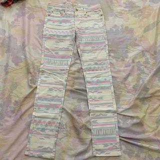 Vintage pastel tribal pants
