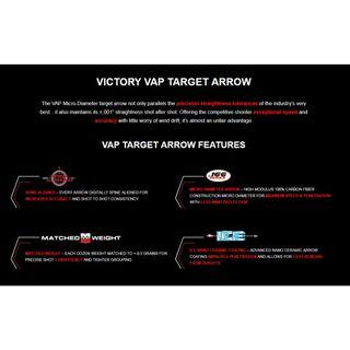[BNIB] Victory Arrows for Recurve and Compound Bow - VAP V1 (Shaft Only) #MRTAMK