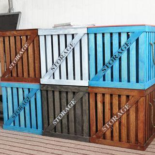 Storage Box (Blue with pink lid / cover)