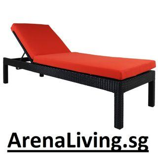 Reclining Sunbed with Cushions - Arena Living