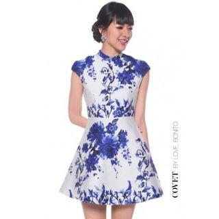 Love Bonito Blue Floral Dress