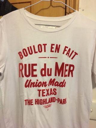 Chocoolate white/red tee tshirt