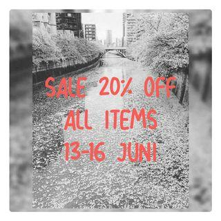 SALE 20% OFF ALL ITEMS