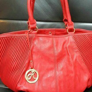 🚚 R專櫃紅色肩背包手提包