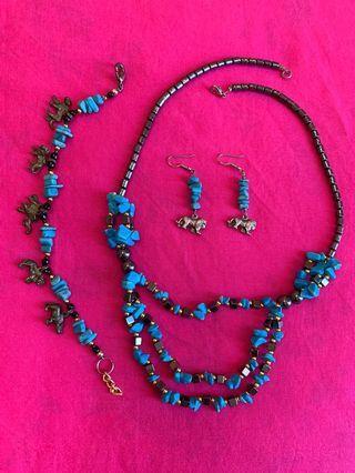 African Big 5 Animal Jewelry Set