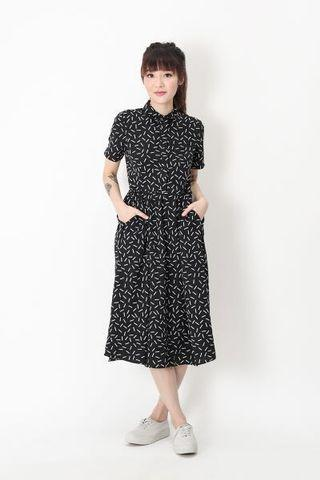 A For Arcade Katie Confetti Shirt Dress
