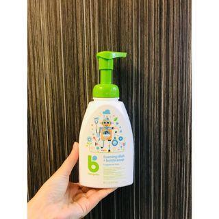 (特價品!!! (樽頸有磨損如圖)) 美國 BabyGanics 甘尼克寶貝 奶樽清洗液劑水果蔬菜清潔劑 473ml