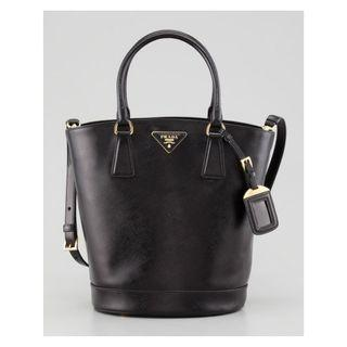 Prada BN2445 - Saffiano Tote Bag in Black Colour