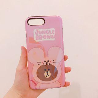 Case iPhone 7 plus jungle brown line friends