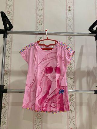 Kaos Pink Barbie