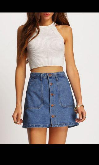 Blue Denim Skirt (Brand New)